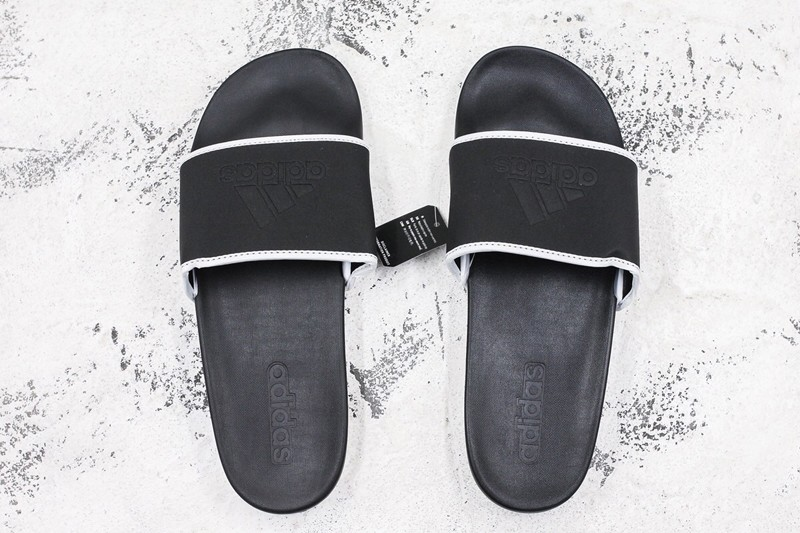 79d6f0738a7bc2 Hot Selling Adidas Adilette CF MONO Sandals Black White Mens Size ...
