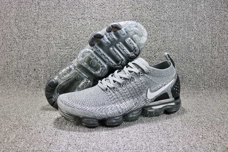 New Arrival Nike Air VaporMax Flyknit Gray Black 942842-103 Men s Running  Shoes d1fac921f