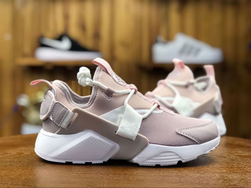 New Arrival Wmns Nike Air Huarache City Low AH6804-600 Pink Running ... 25f21c0e74f0