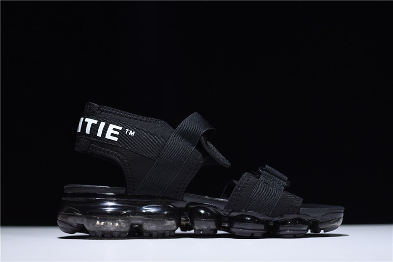 866257d5cfec3 New Products Nike Air VaporMax Men s-Women s Summer Triple Black Sandals  For Sale