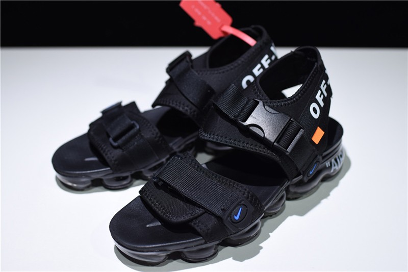 cheap for discount 50019 77b1d New Products Nike Air VaporMax Men's-Women's Summer Triple Black Sandals  For Sale
