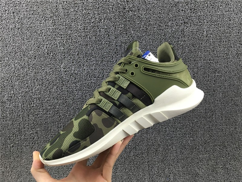 New Release BB1307 Adidas EQT Support ADV Army Green/Camo Men's-Women's Running Shoes