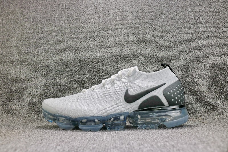 5b89f36f7157a7 New Style Nike Air VaporMax Flyknit 942842-103 Men s White Black Sneakers