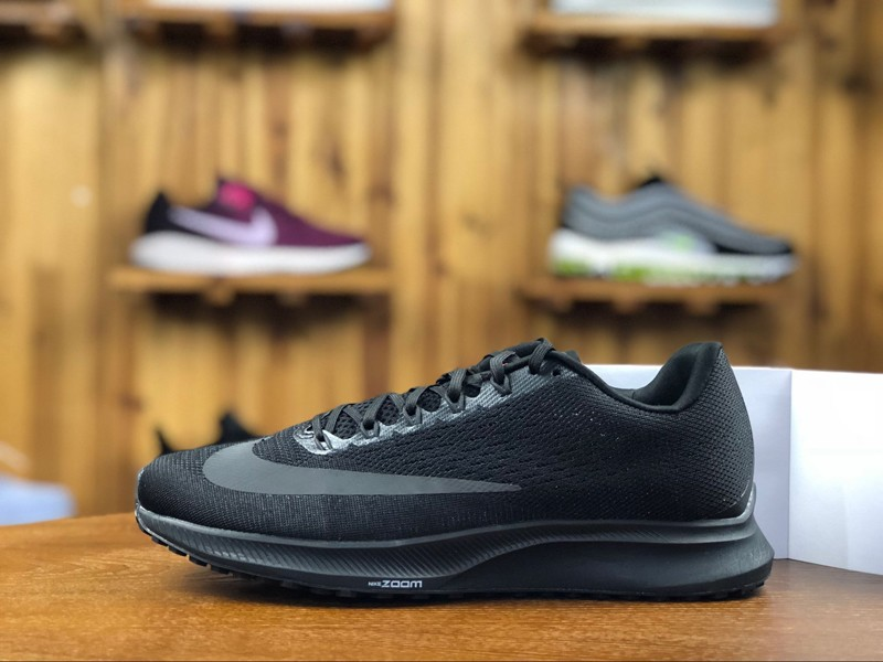 c0f210dd732 New Style Nike Air Zoom Elite 10 Black 924504-009 Men s Breathable Running  Shoes