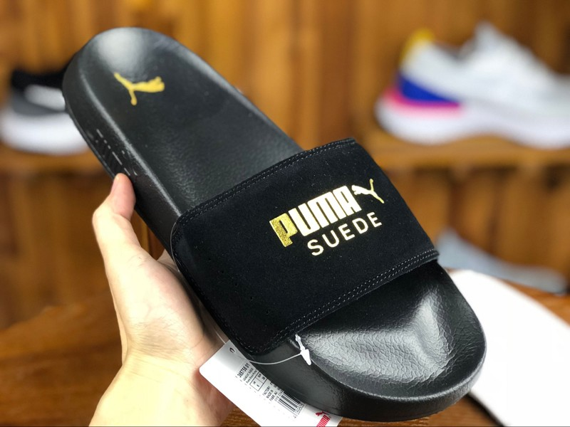New Style Puma Leadcat Suede Black/Gold