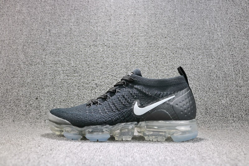 Nike 2018 Air VaporMax Flyknit Dark Grey 942842-001 Running Shoes For Sale 39c7d025b