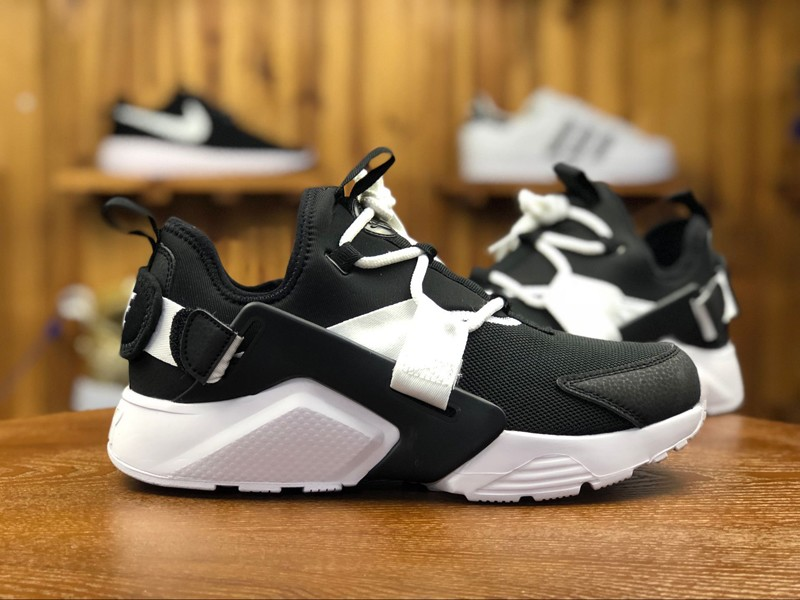 Nike Air Huarache City Low AH6804-002 Black White Running Shoes For ... 1b690ee4809a