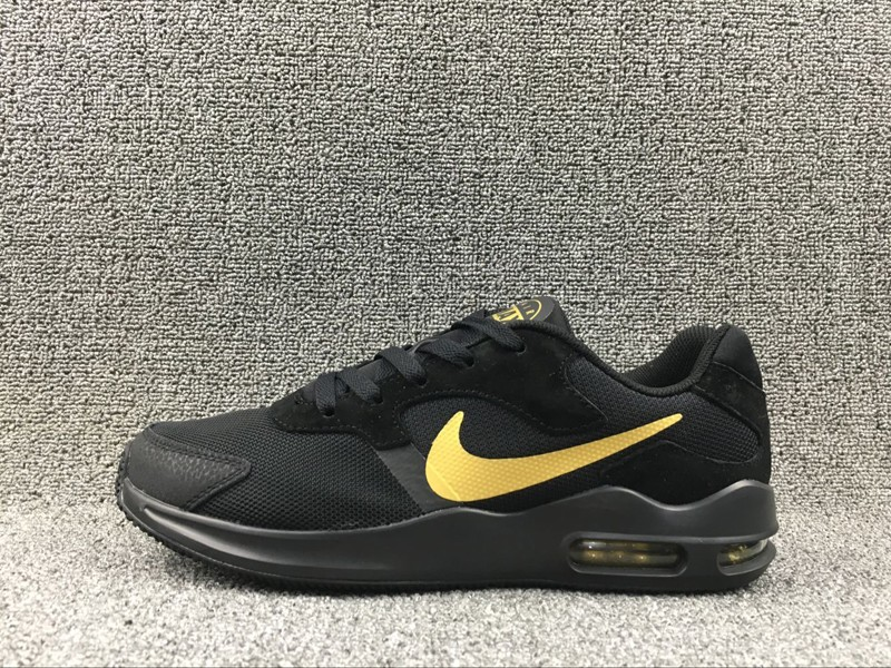 """2812a7f58e55 Nike Air Max Guile 916768-008 """"Black-Gold"""" Men s 2018 Newest Running Shoes"""
