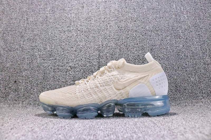 1716838f271c Nike Air VaporMax Flyknit Women s Light Cream Running Shoes 942843-201 ...