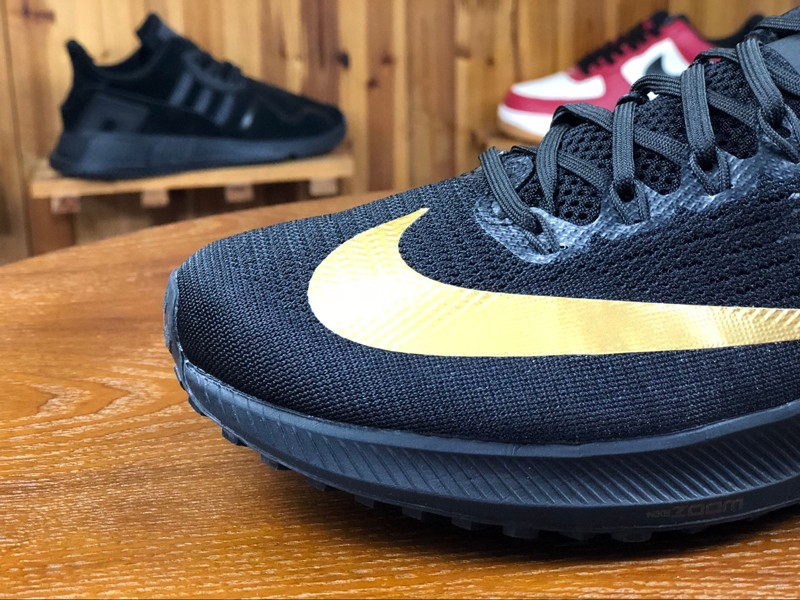 246b536f8aa Nike Air Zoom Elite 10 Black Gold 924504-007 Men s 2018 New Breathable Running  Shoes