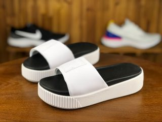 e24022ee8c5 Puma Wmns Platform Slide Bold SD 366121-01 White Thick-Soled Slippers For  2018