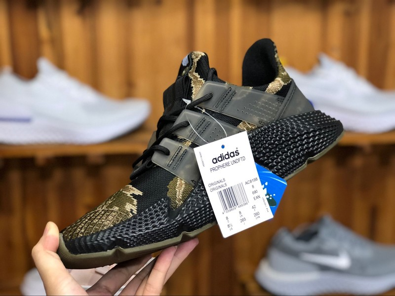 """new style d5b4a f28f7 Top Quality Adidas Prophere AC8198 """"Tiger Camo-Black"""" Mens Womens Running  Shoes"""