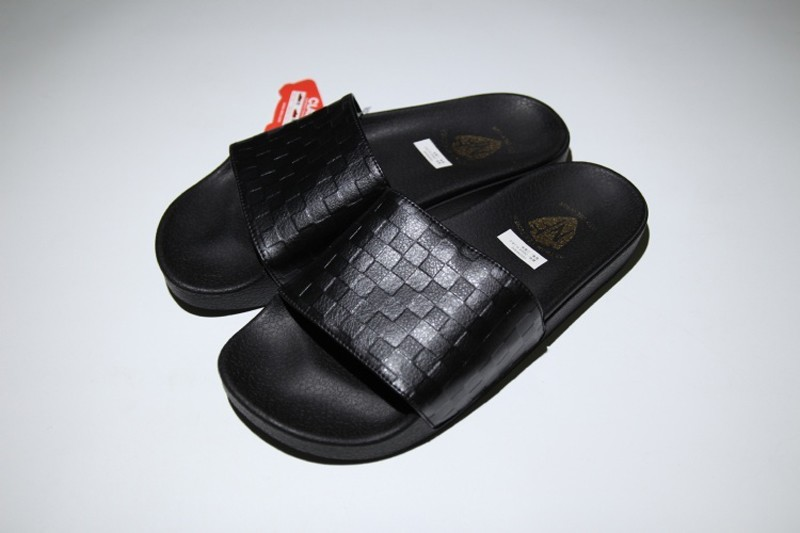 d8fd3c0e13333a VANS Slide On Full Black Lattice Summer Beach Surf Casual Slippers For Sale