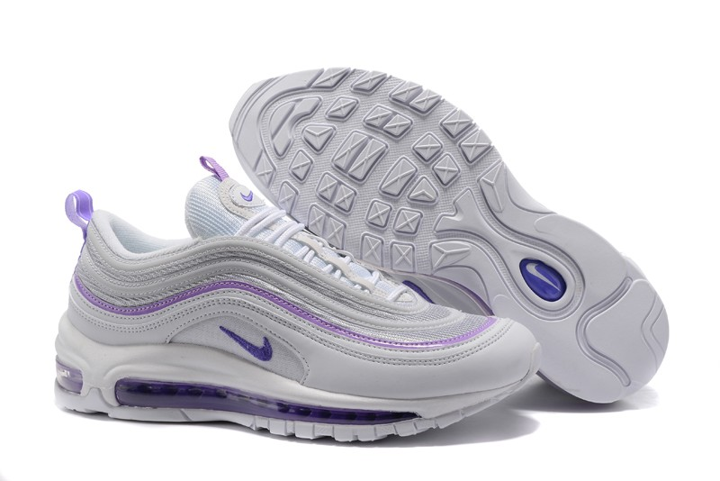 size 40 456e3 96d46 2018 Nike Air Max 97 Women's Purple/White 313054-160 Fashion Sport Running  Shoes