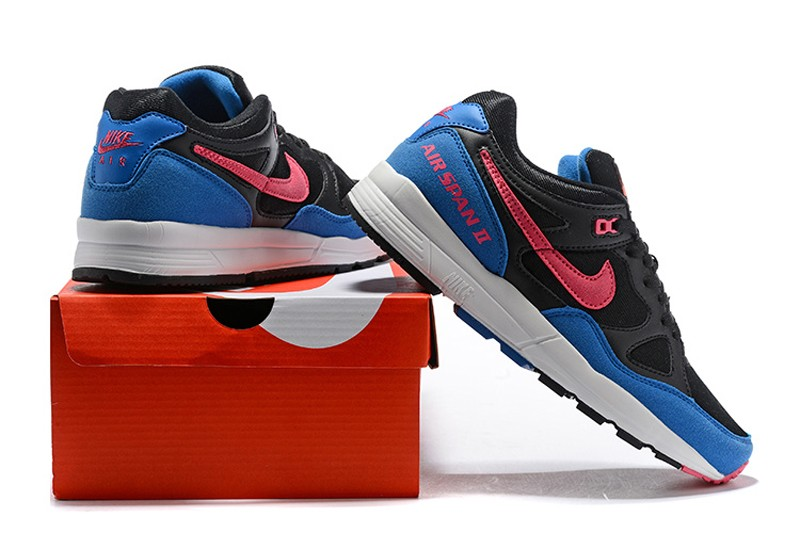 d0b95e7a400a7f 2018 Nike Air Span II Men s Black Hyper Pink Hyper Royal Newest ...