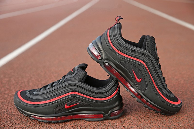 new concept fd41b da485 2018 Year New Style Nike Air Max 97 Men's Black/Red Sport Running Shoes For  Sale