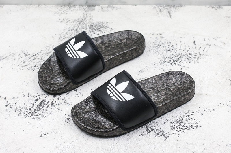 outlet store 5b52a d6fe2 Adidas Adilette Boost Sandals BlackWhite Mens-Womens ...