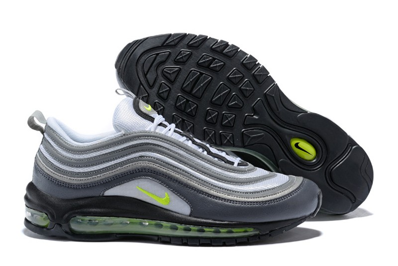 "6bcc68398273f8 High Quality Nike Air Max 97 ""Neon"" 921733-003 Dark Grey Volt Men s Running  Shoes"