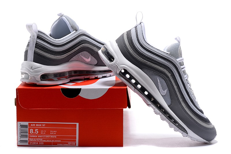 "0c2c99a02f Hot Selling Men's Nike Air Max 97 ""Dark Grey-Grey"" Air Cushion Running Shoes"