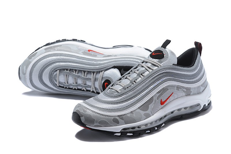 the best attitude 4a552 a86d3 Hot Selling Nike Air Max 97 Metallic Silver Camouflage Men's Running Shoes  884421-001
