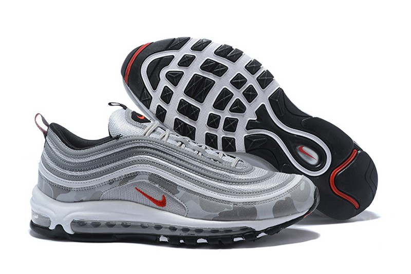 competitive price 1726f 5e083 Hot Selling Nike Air Max 97 Metallic Silver Camouflage Mens Running Shoes  884421-001