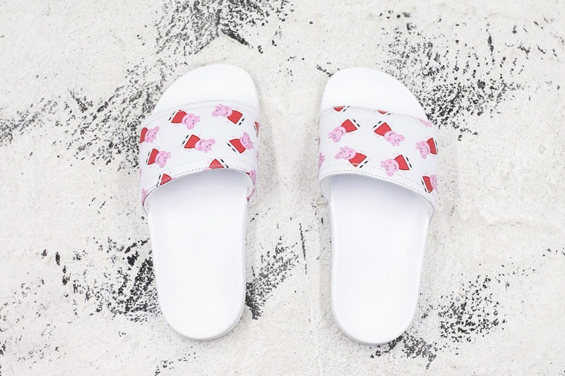 New Arrival Adidas Pig Peggy White/Red Sandals Girl Beautiful Slippers For Sale