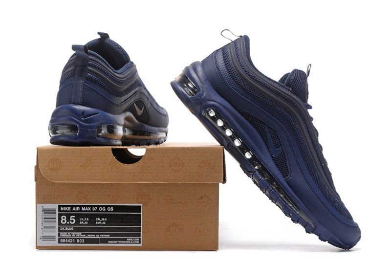 New Arrival Men s 884421-003 Nike Air Max 97 Dark Blue Sport Running Shoes  ... 4cdd9b0b4