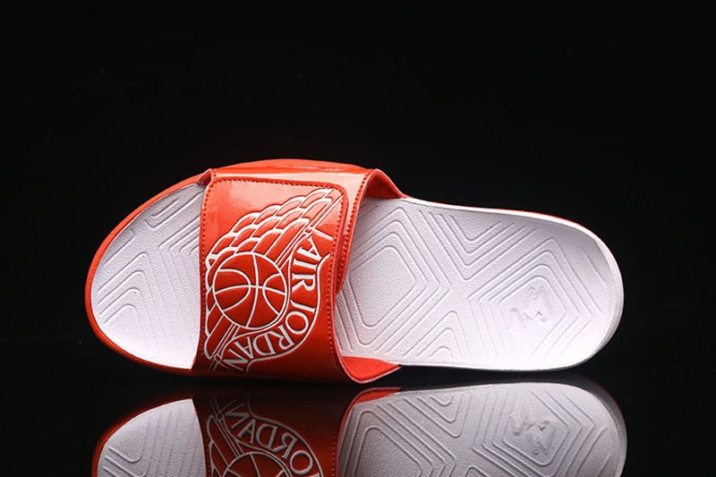 dfc0a6784f0146 New Release Jordan Hydro 7 Retro Slides Sandals Men s-Women s Orange White  Slippers
