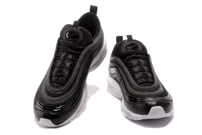 New Release Nike Air Max 97 921826 001 BlackWhite Serpentine Neutral Running Shoes