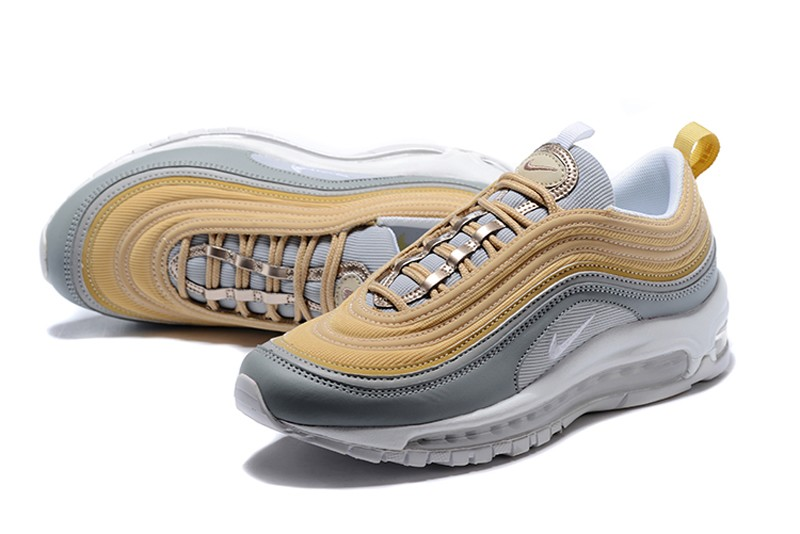 New Release Nike Air Max 97 Women s Grey Yellow Sport Running Shoes ... 730014c171