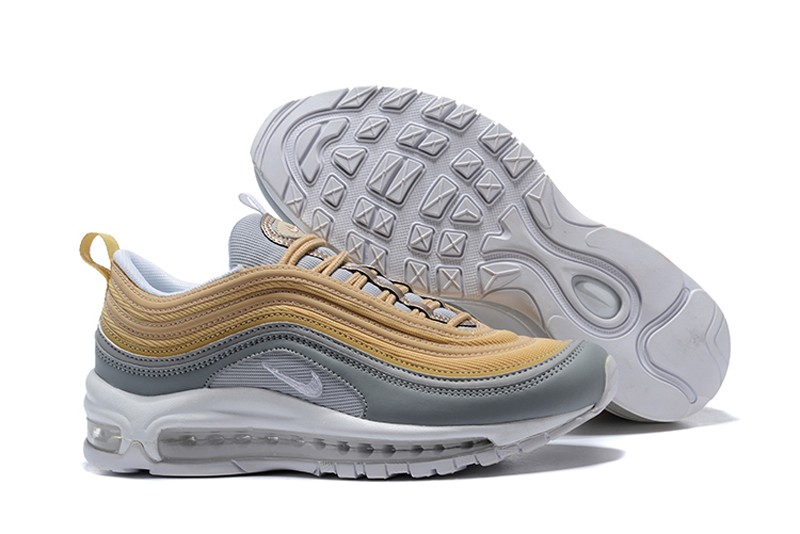 hot sale online fb818 f7016 New Release Nike Air Max 97 Women's Grey/Yellow Sport Running Shoes On Sale