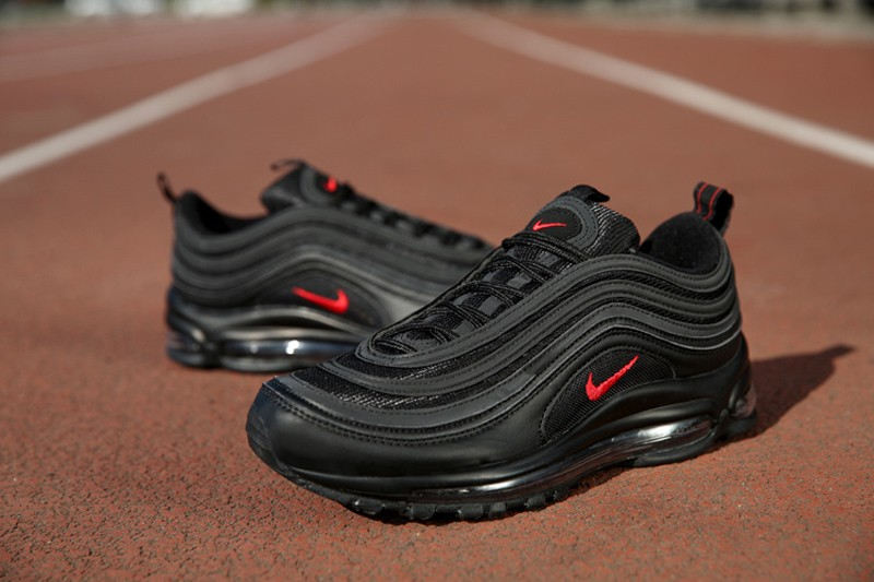 Nike Air Max 97 Men S Women S Black Red Stylish Sport Running