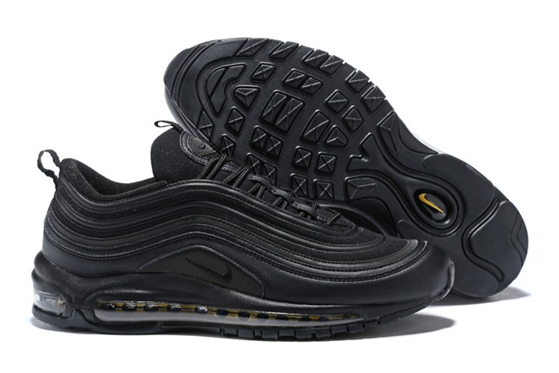 huge selection of 2f1e8 9becc Nike Air Max 97 Premium Black/Gold Men's Running Shoes AA3985-001 Free  Shipping