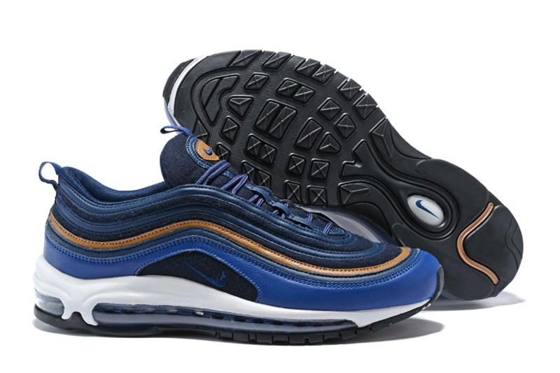 Nike Air Max 97 Premium Thunder Blue Ale Running Shoes Running Shoes  312834-400 For Sale 0b06ef267