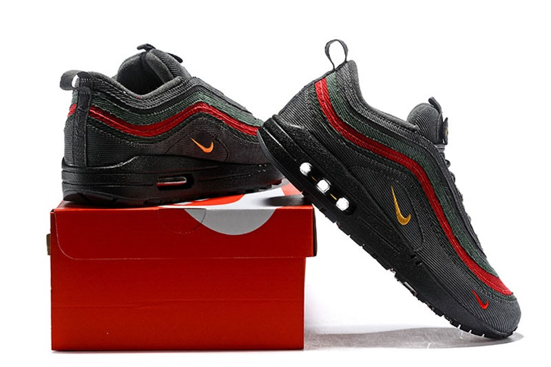 buy popular 4fe81 a1df8 Nike Air Max 97 Sean Wotherspoon Corduroy Black Red Green ...