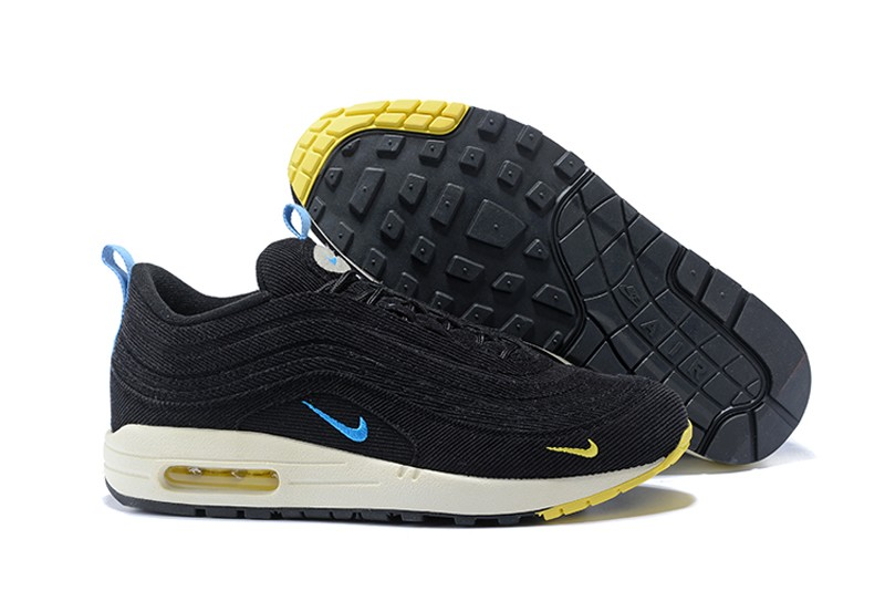 f17da916735 Top Quality Nike Air Max 97 Sean Wotherspoon Corduroy Black Blue Yellow ...