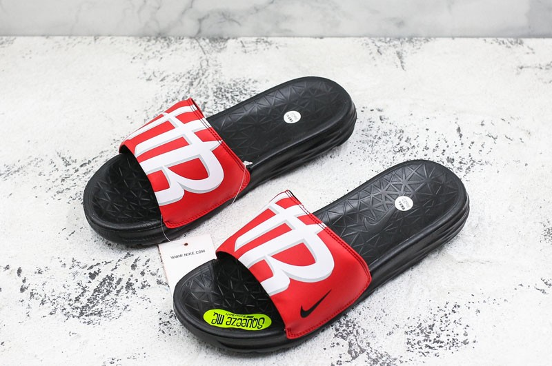0fbe8e470fc Top Quality Nike Benassi Solarsoft NBA Slides Sandals Men s Red White  Slippers