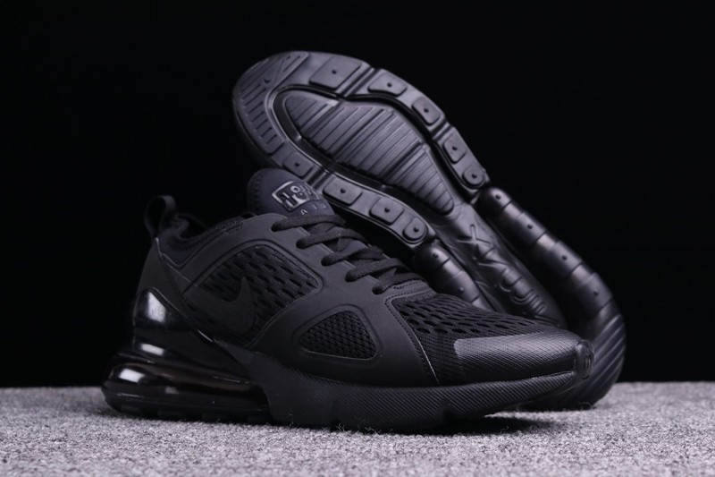 low priced 655db cbd88 2018 Most Popular Nike Air Max 270 All Black Men's Sneakers Running Shoes