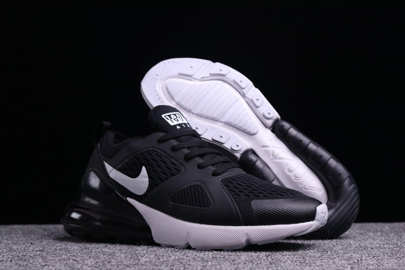 e991a379a20 2018 Most Popular Nike Air Max 270 Black White Men s Sneakers Running Shoes
