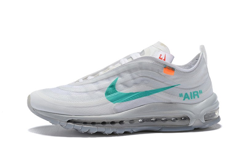 Best Sell Nike Air Max 97 x Off White Wolf Grey/White-Menta AJ4585-001 |  Sneakers Big Sale