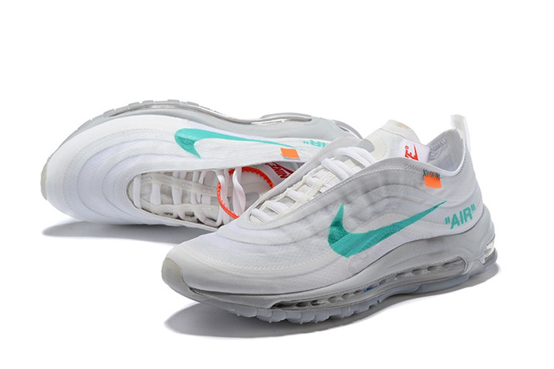 official photos d5df1 0bd09 Best Sell Nike Air Max 97 x Off White Wolf Grey/White-Menta Jogging Running  Shoes AJ4585-001