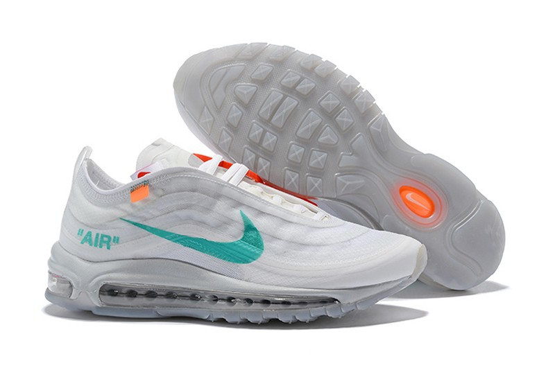 8025ae67f72 Best Sell Nike Air Max 97 x Off White Wolf Grey White-Menta Jogging ...