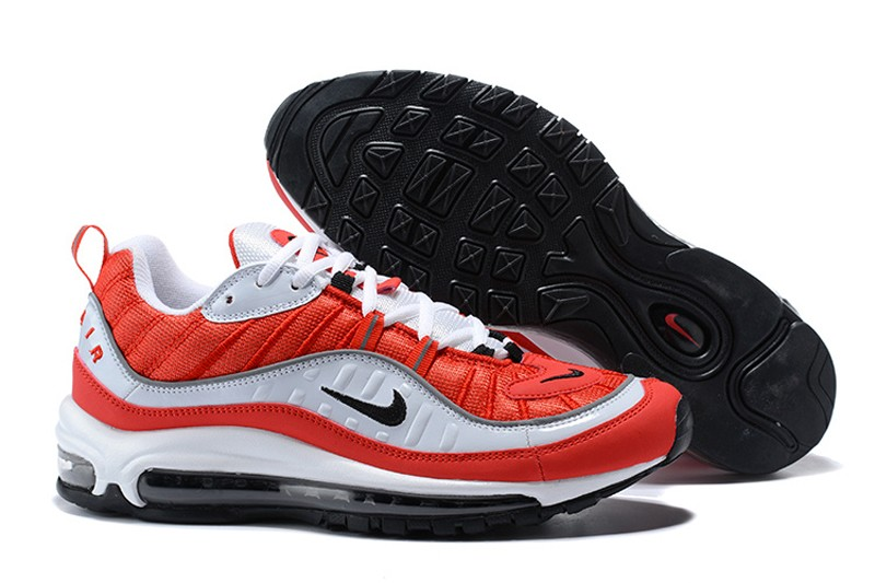 huge selection of d2fdd 33843 Best Sell Nike Air Max 98 White Black-Gym Red-Reflect Silver AH6799-101  Men s Running Shoes