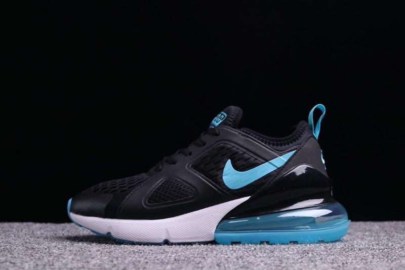 Brand New Women S Nike Air Max 270 Black Light Blue Fashion