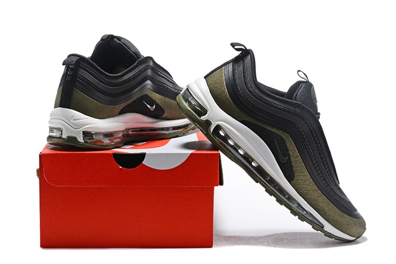 reputable site beb5f bce6f Hot Selling Nike Air Max 97 UL'17 AH9945-001 Black/Olive Green Men's  Running Shoes