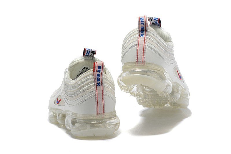 premium selection c4ef2 46bc2 Hot Selling Nike Air VaporMax 97 Silver Bullet White/Red Cushioning Running  Shoes
