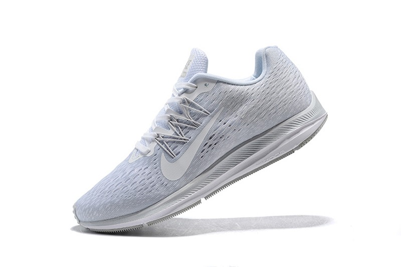 842c0a0f5bc90 Hot Selling Nike Air Zoom Winflo 5 Men s All White Breathable Running Shoes  ...