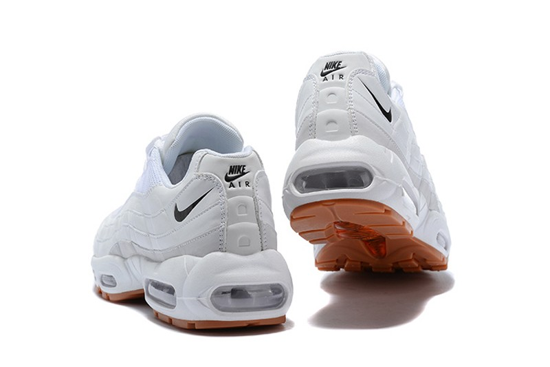 cf4f48ee70a6 New Arrival Nike Air Max 95 Men s-Women s White Black Sneakers Running  Shoes 609048-1