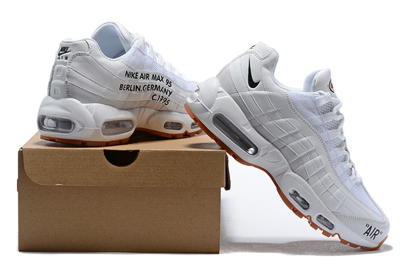 superior quality c6429 e10c4 New Arrival Nike Air Max 95 Men's-Women's White/Black Sneakers Running  Shoes 609048-1