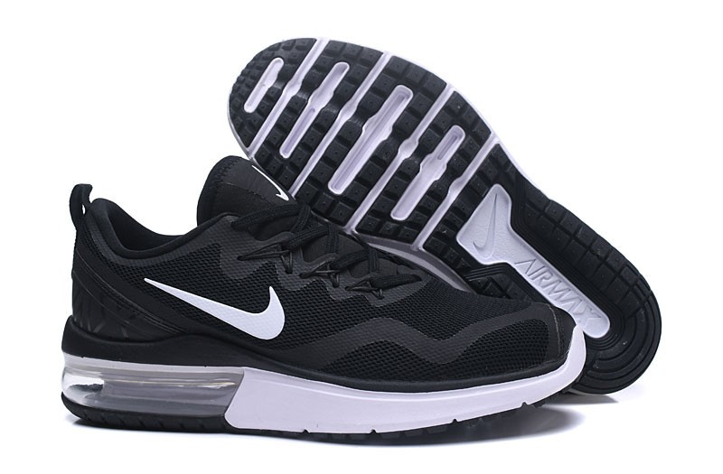 New Arrival Nike Air Max Fury AA5739-001 Men s-Women s Black White Running  Shoes 4f7b95c4e